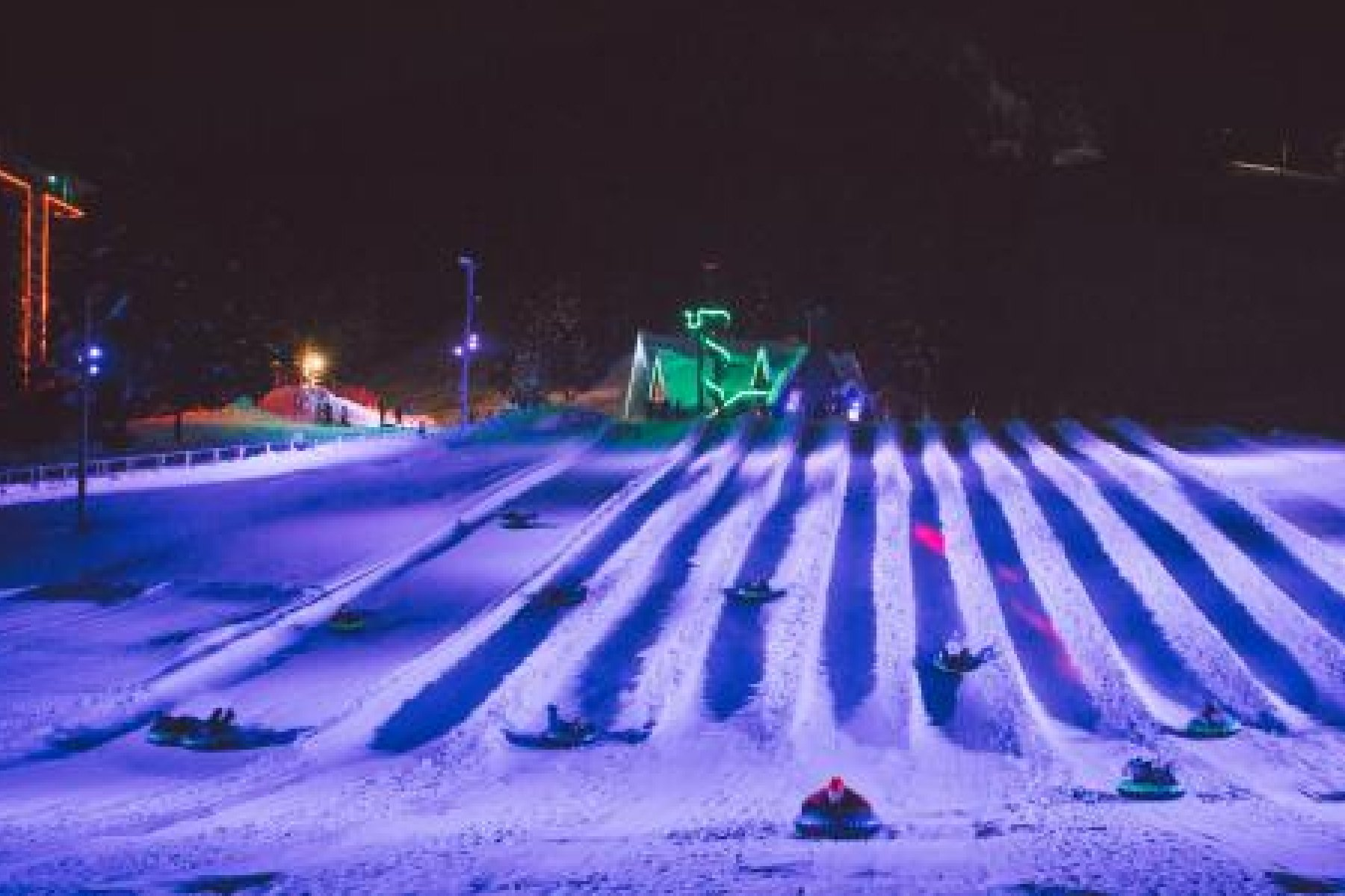 Mt Hood Skibowl Cosmic Tubing Oregon Skiing Snow