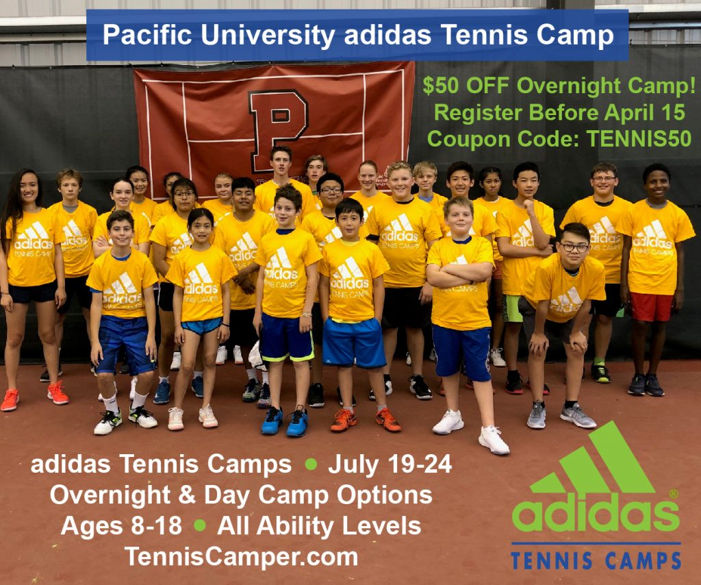 Pacific University adidas Tennis Camp Oregon