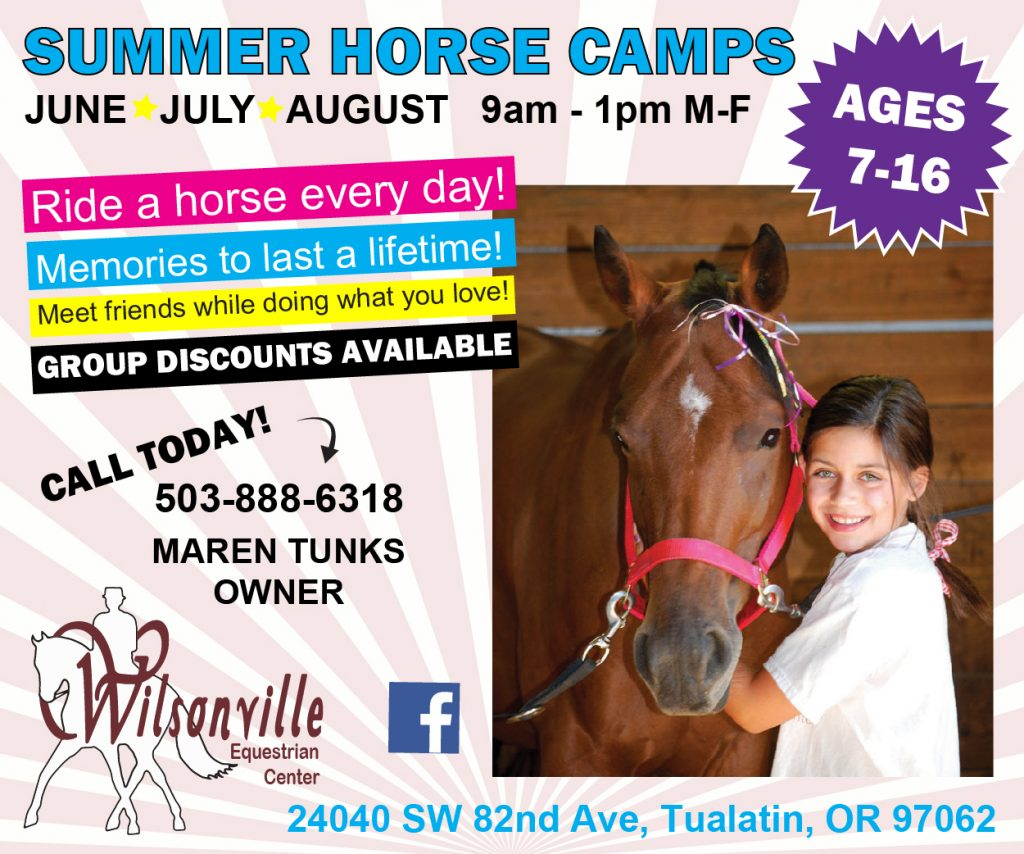 Wilsonville Equestrian Center Summer Camp
