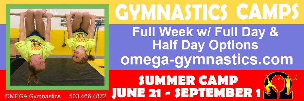 Omega Gymnastics Summer Camp 2021